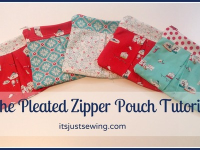 How To Make A Pleated Zipper Pouch