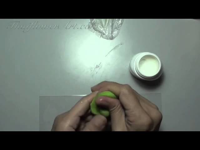 How to make a rose clay flower 3(for beginners)