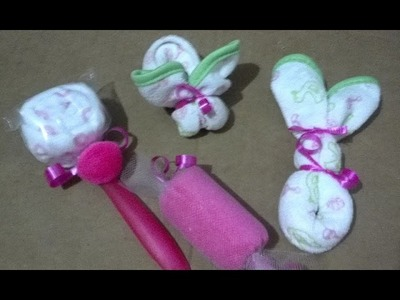 How to make a washcloth spoon lollipop