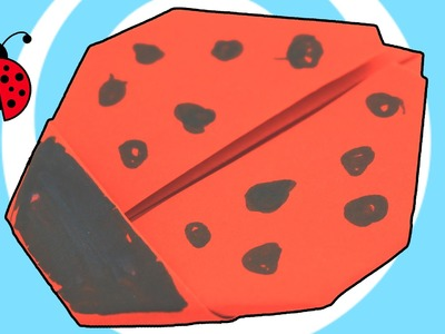 How to make an origami LadyBug Video Instructions