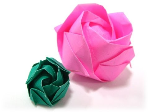 How to make an origami rose ♥ Origami rose instructions VERY EASY!