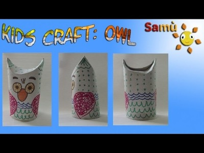 HOW TO MAKE AN OWL: Halloween Kids Crafts Ideas