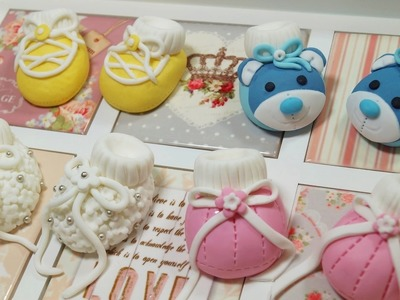 How To Make Baby Booties Baby Shoes For Cakes - Max's Cake Studio