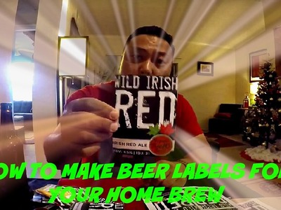 How to make Beer Labels for Home Brew | Nepali Brewboy Channel