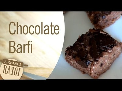 How To Make Chocolate Barfi (Chocolate Fudge Cakes) By Archana || Archana's Rasoi