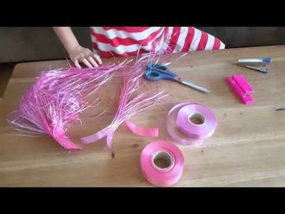 How to make colorful shredded ribbons