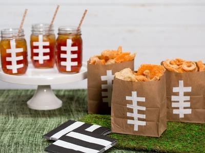 How To Make Cool Festive Football Bags and Mason Jars | Southern Living