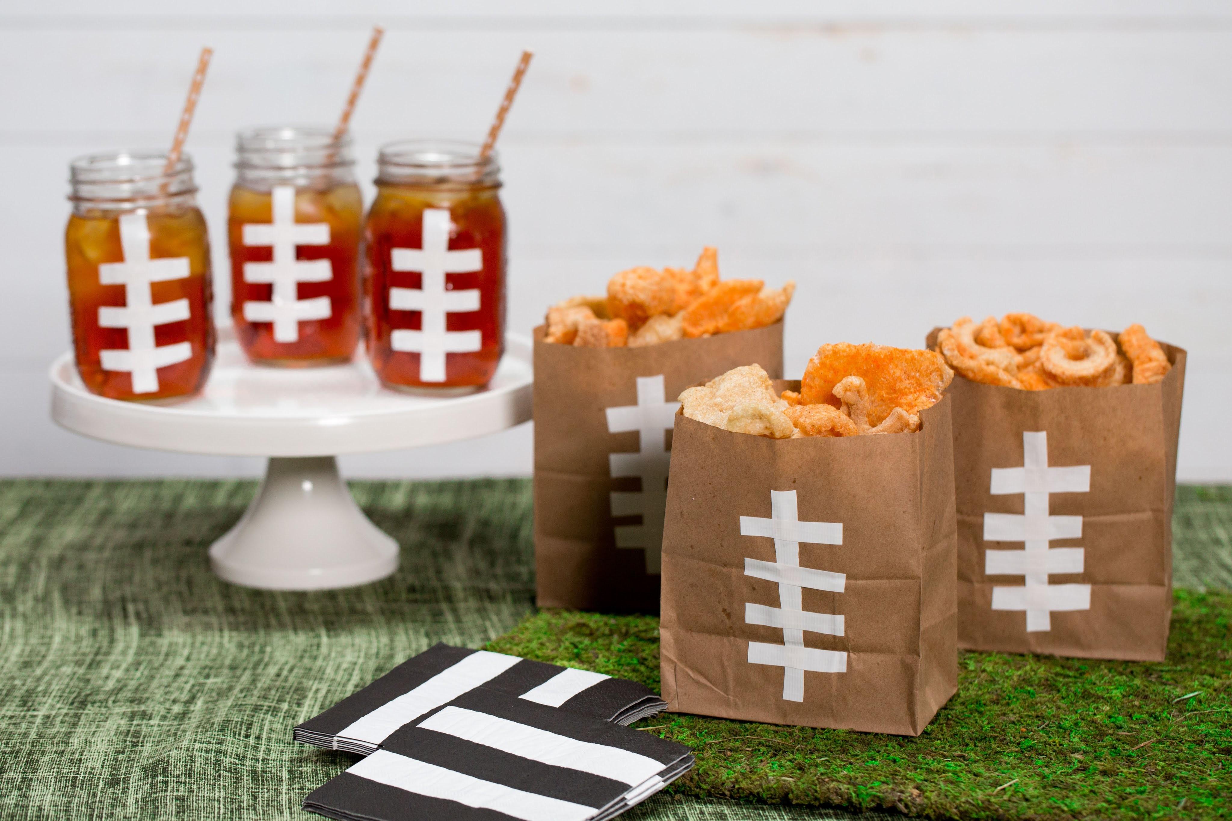 How To Make Cool Festive Football Bags and Mason Jars   Southern Living
