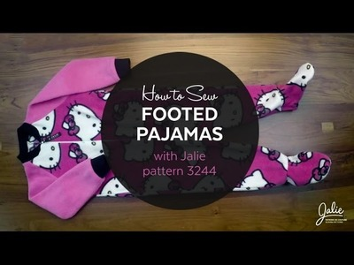 How to Make Footed Pajamas (Jalie pattern 3244)