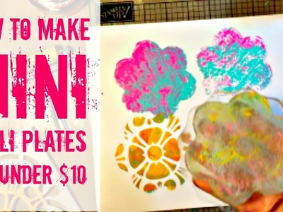 How to Make Mini Gelli Plates