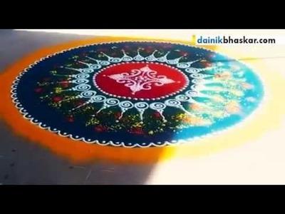 How to Make Rangoli | Easy Tips By Dainik Bhaskar