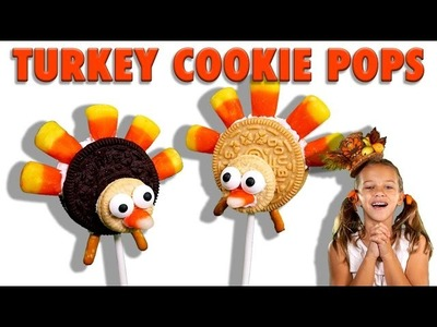 How to make Turkey Cookie Pops for Thanksgiving. Easy