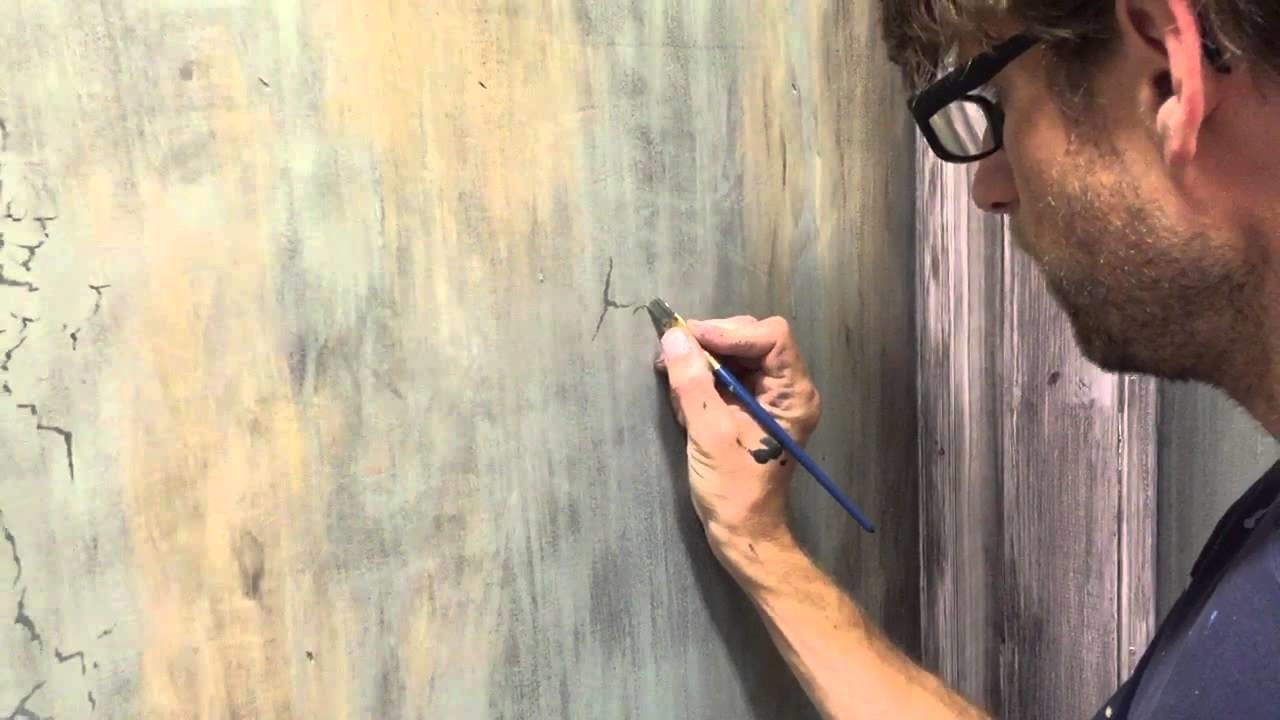 How to paint cracks