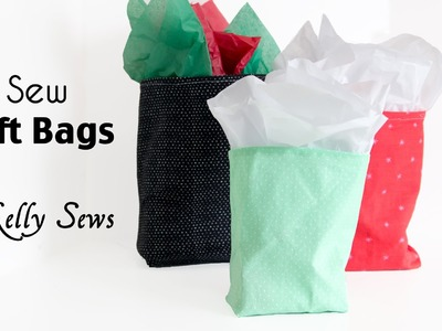 How to Sew a Gift Bag - Make Reusable Gift Bags