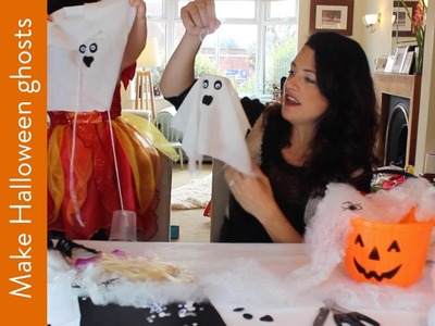 Make Halloween ghosts to decorate your house | HOW TO with Channel Mum