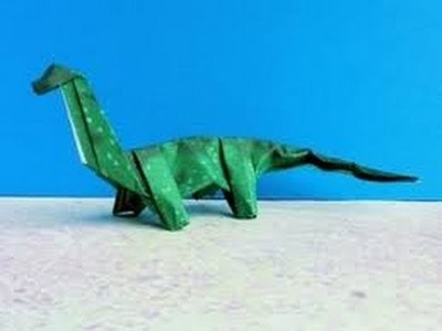 Origami Dinosaur - How to make an Origami Dino Brachiosaurus step-by-step