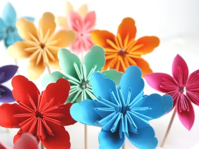 Beginners Origami Flowers For Beginnershow To Make A Flower Paper