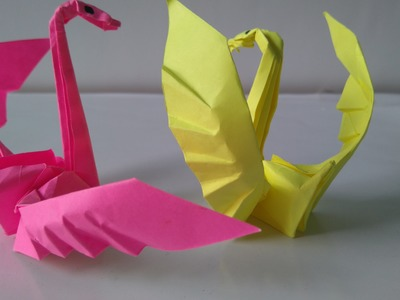 Origami Tutorials - How to make an origami swan
