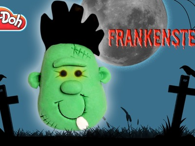 Play Doh Halloween Frankenstein  | Funny Frankenstein | How To Make Halloween Frankenstein