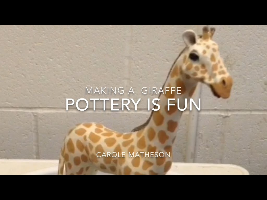 Pottery: Making Animals-How to make a Giraffe-Pottery is Fun
