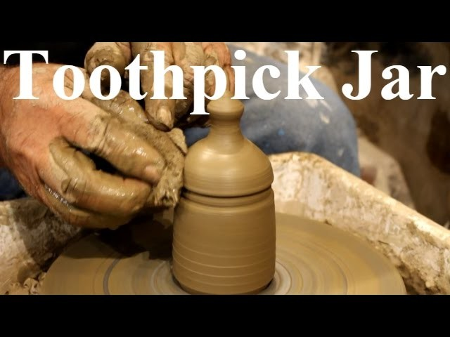 Pottery throwing - How to Make a  Pottery toothpick Jar #31