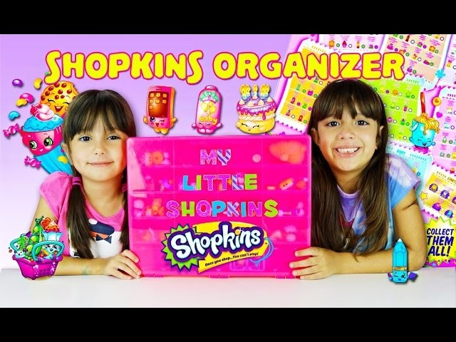 SHOPKINS ORGANIZER - Personalized Shopkins Storage Case How to Store your Shopkins - Talented Kidz