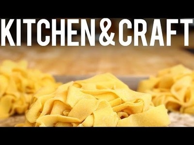 Simple Pasta Dough and Tagliatelle Pasta - Recipe and How To