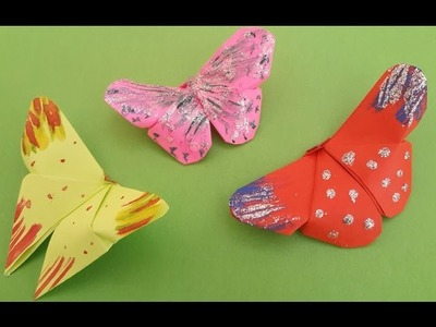 5 Minutes Easy Origami Butterfly for Kids : How to Make Beautiful Paper Butterfly