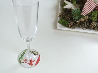 Adornos navideños - Como decorar copas | Christmas Ornaments - How to decorate wine glasses