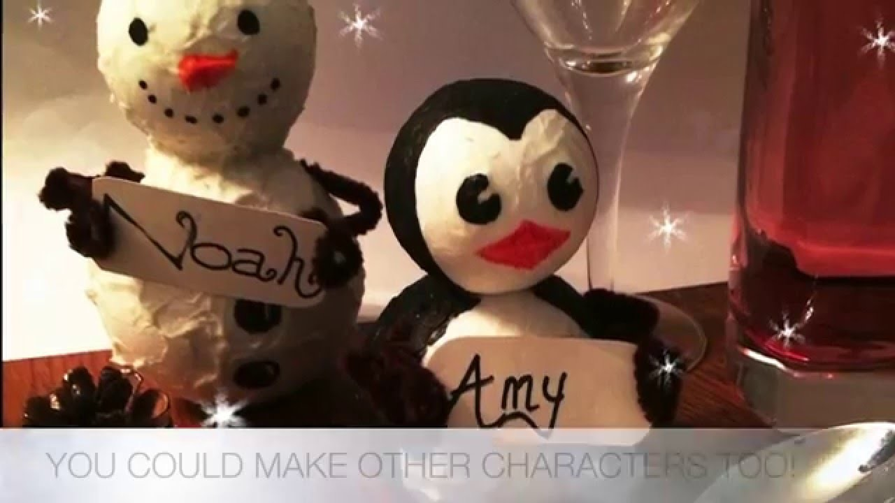 Christmas Crafts | How to make a Name Place Holder
