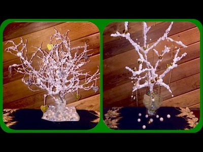 Como hacer un arbolito de Navidad con nieve artificial. How to make a Christmas tree with fake snow