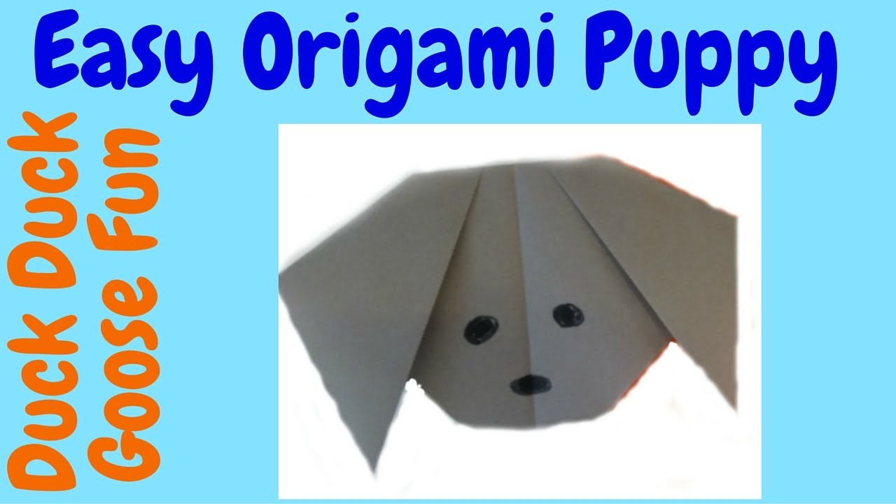 Easy Origami Tutorial: How to Make an Easy Origami Puppy