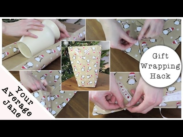 Gift Wrapping Hack - How to make a gift bag from wrapping paper