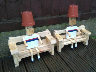 How To Build A Flower Pot Man Garden Ornament Out Of A Pallet