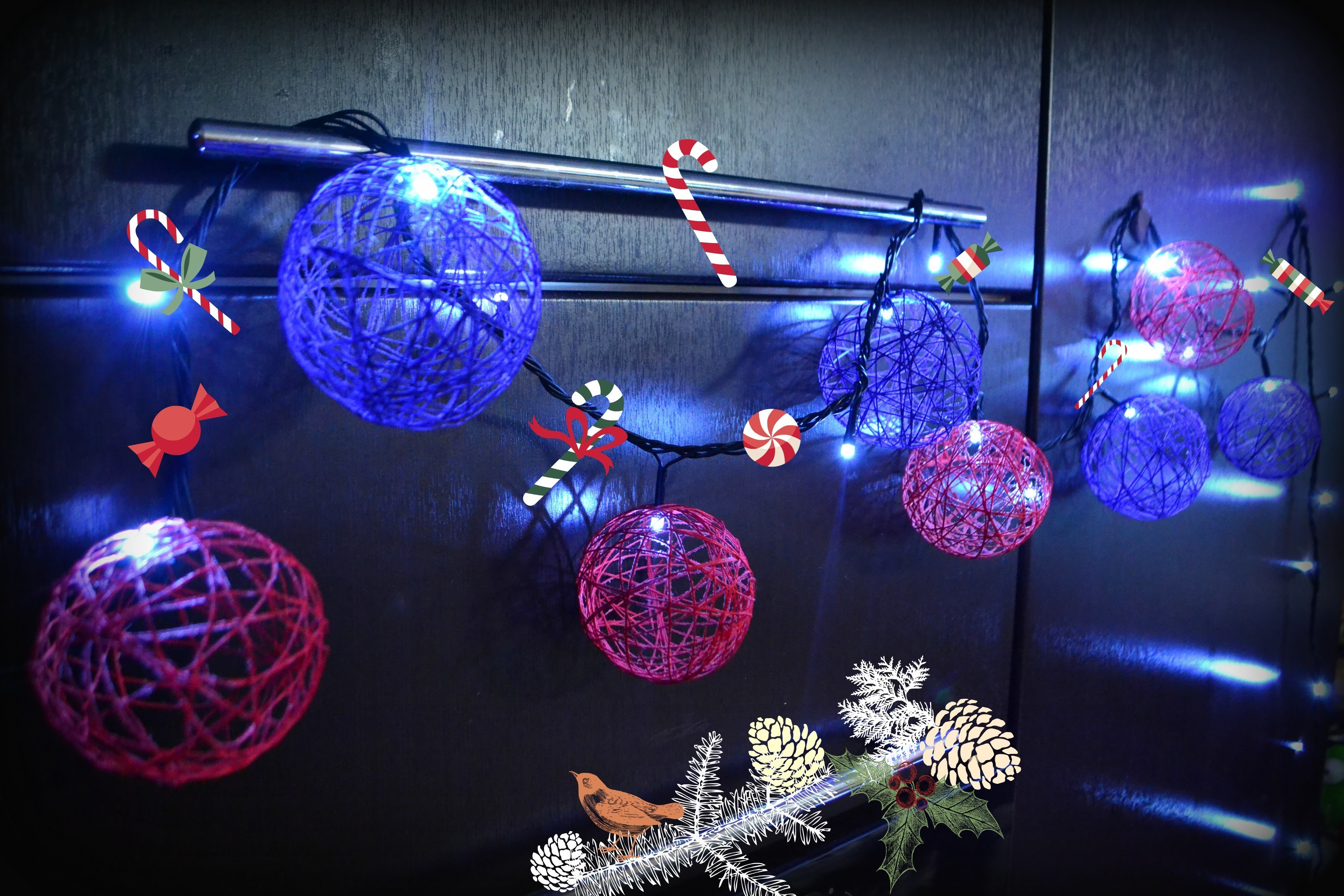 How to craft Ball Ornaments for Lights featuring Yarn