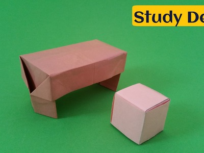 "How to do a easy Paper ""Study Desk"" - Origami Tutorial"