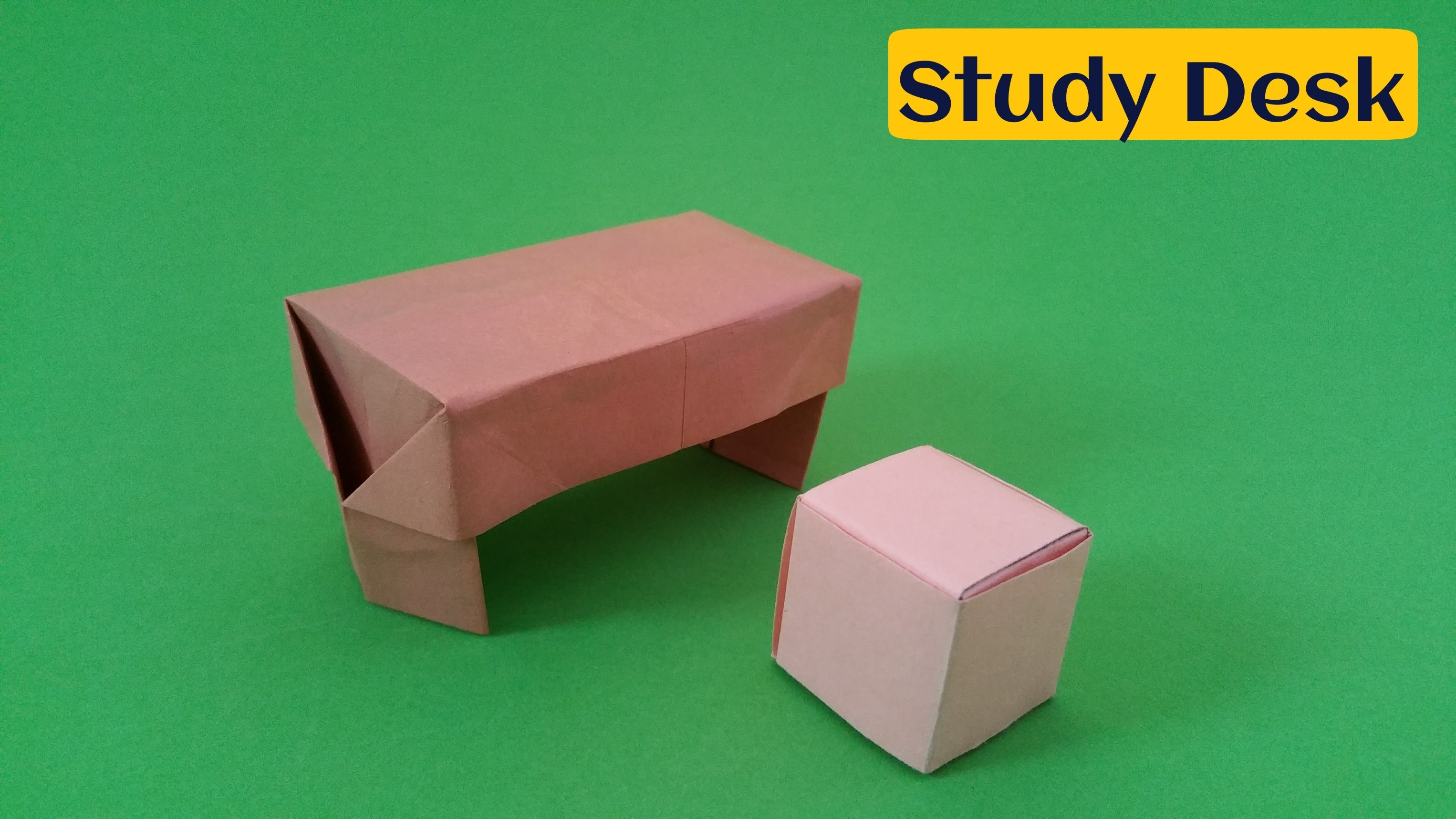 "How to do a easy Paper ""Study Desk"" - Origami Tutorial"