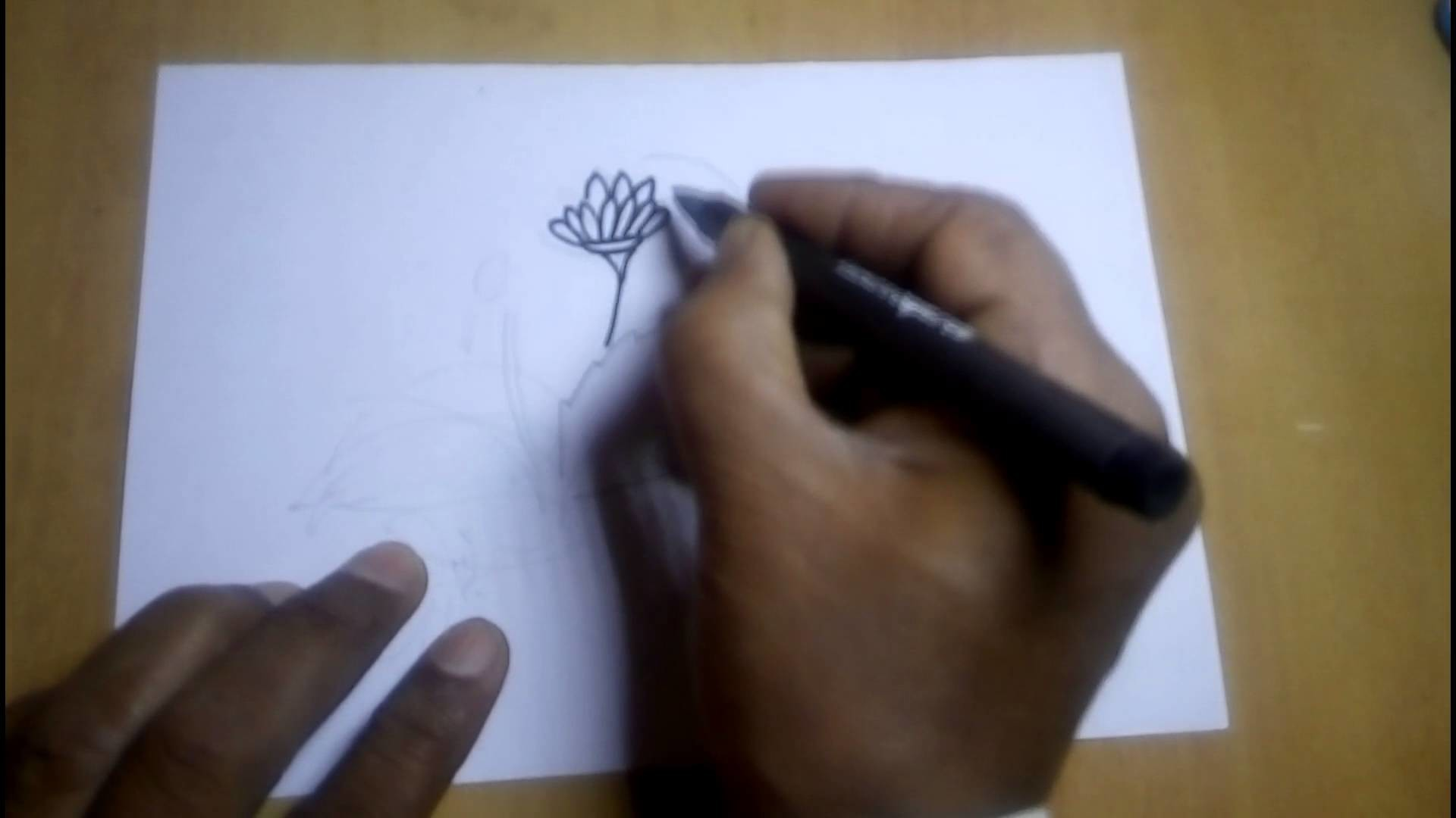 How to Draw a Beautiful and Simple Flower