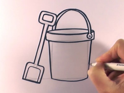 How to Draw a Cartoon Bucket and Spade