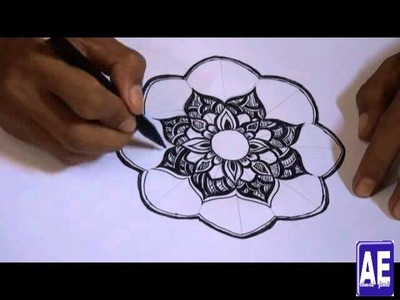 How to draw a flower ornament pattern