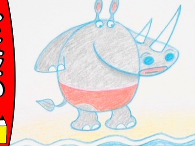 How To Draw A Rhino   Art Ideas For Kids   Øistein Kristiansen