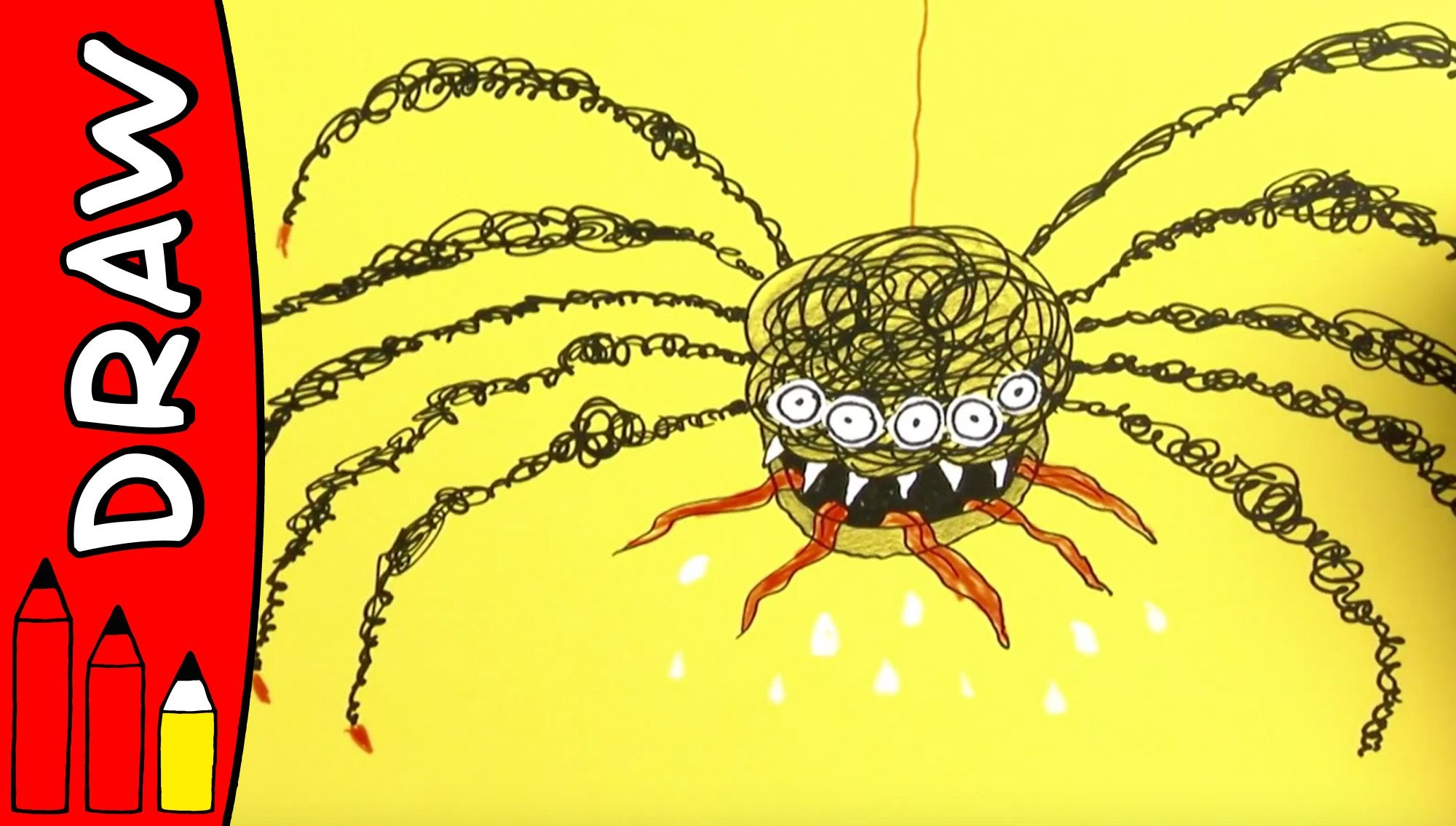 How To Draw A Spider | Halloween Ideas For Kids | Øistein Kristiansen