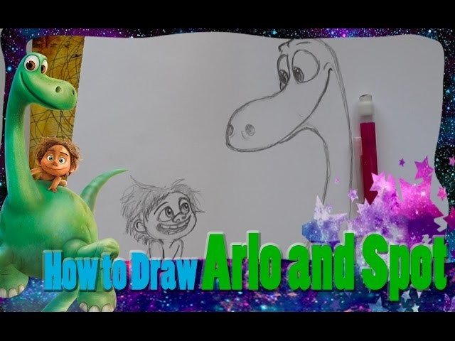 How to Draw ARLO AND SPOT (from Pixar's The Good Dinosaur) - @dramaticparrot