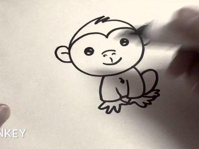 How to draw Monkey, armadillotv