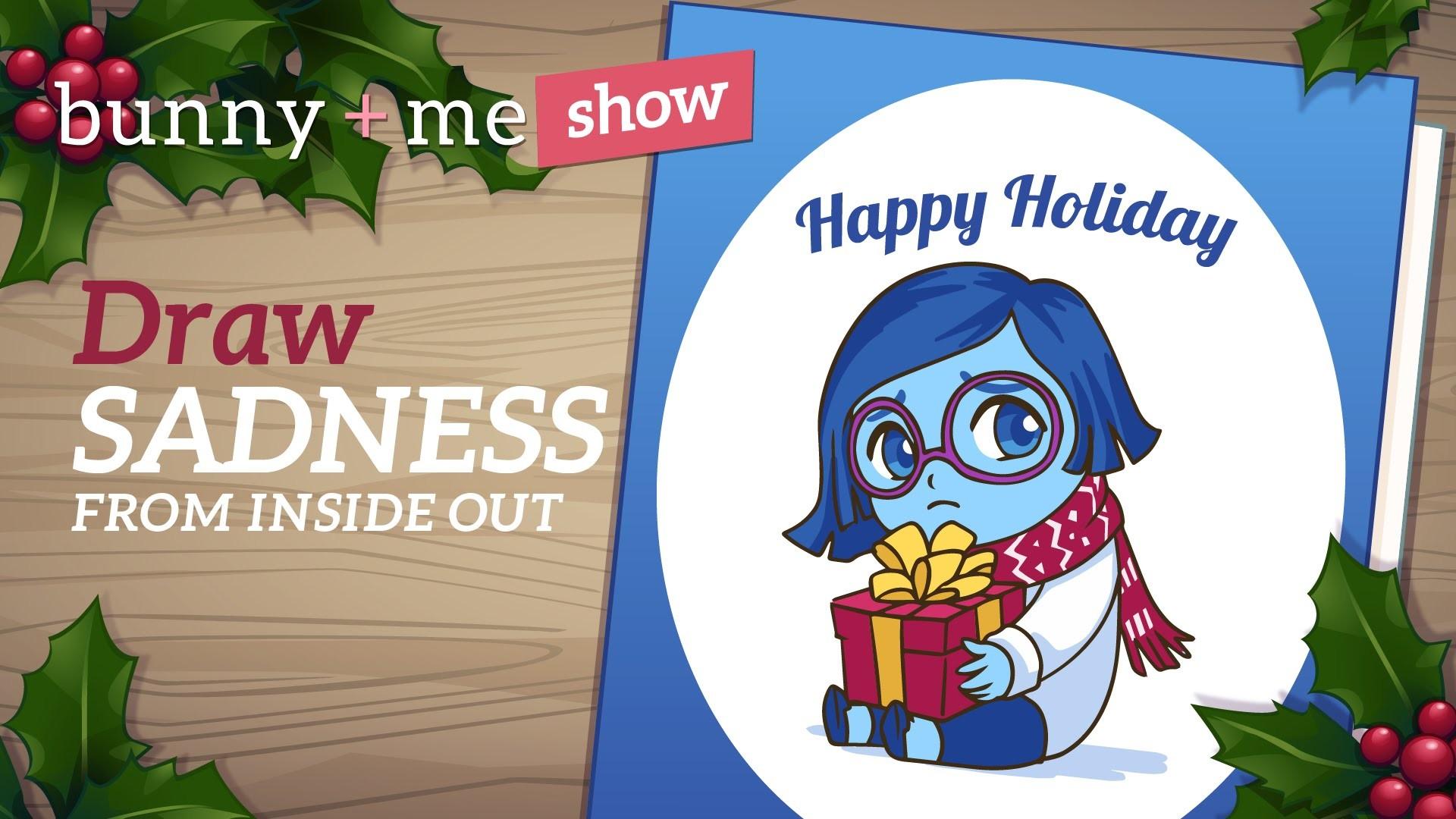 How to draw Sadness - Christmas Card art