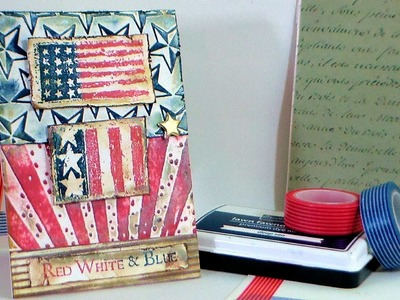 How To Dry-Emboss.STAMP SCHOOL. USA Card!