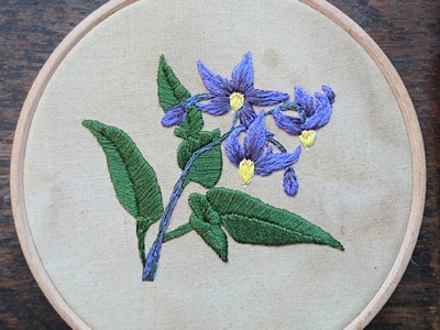 How to Embroider a Flower Nightshade by Craft Jitsu