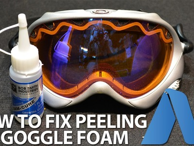 How to Fix. Repair Peeling Foam from Ski Goggles