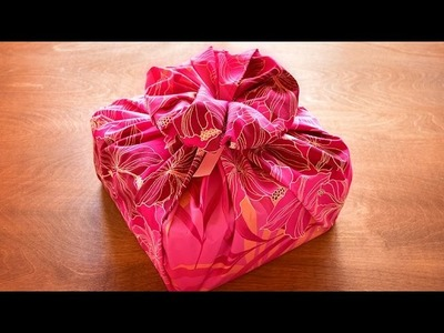 How to Gift Wrap with a Striking Fabric Flower Decoration
