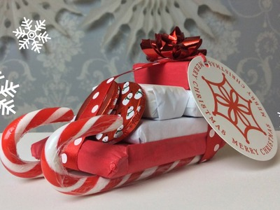 How To: Hand Made Candy Sleigh Christmas Gift!